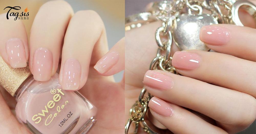 簡單就是美~粉紅色指甲才是最吸睛,少女味就由指甲開始散發吧!