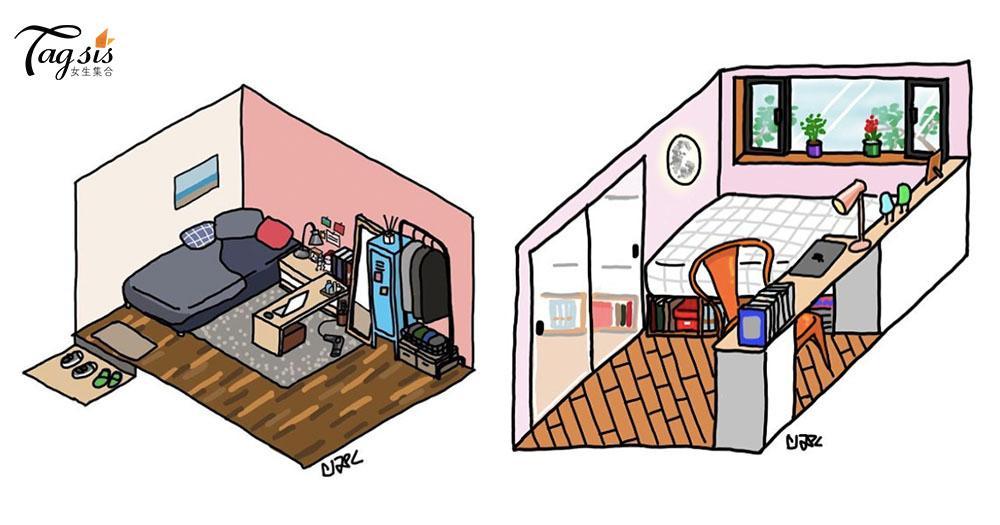第一次租房子必看!韓國插畫家筆下的「一人套房」~ 小小地方卻應有盡有!